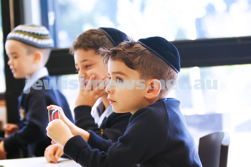 2-2-18. First day of school. Mount Scopus College, Gandel Besen House. Photo: Peter Haskin