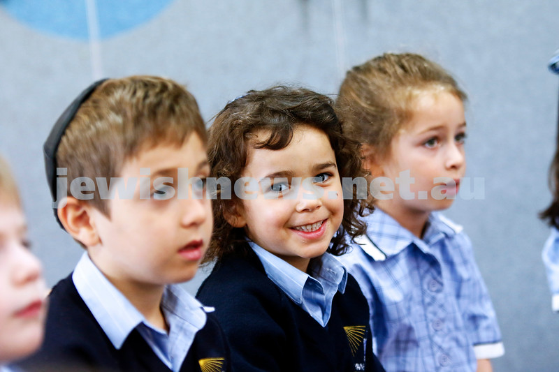 2-2-18. First day of school. Leibler Yavneh College. Photo: Peter Haskin