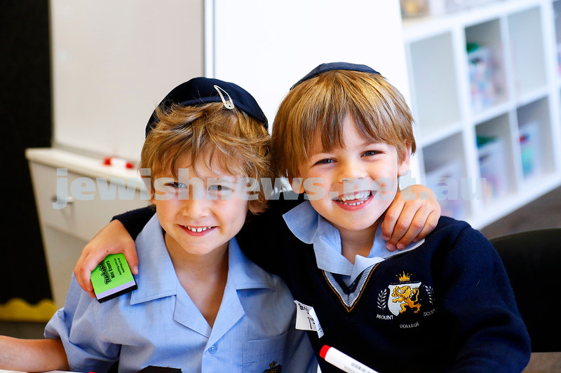 Mount Scopus College. Best buddies xxxx (left) and xxxxx. Photo: Peter Haskin