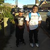 From left to right Eddy Brito jr. going to the Murkland school and Cesar Zayas going to the Wang school....Enjoy your day.