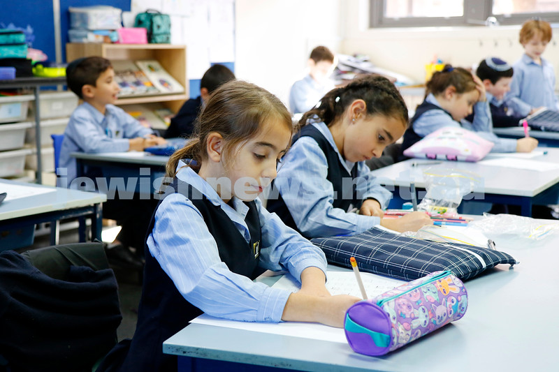Year 2 hebrew class at Leibler Yavneh College. Photo: Peter Haskin