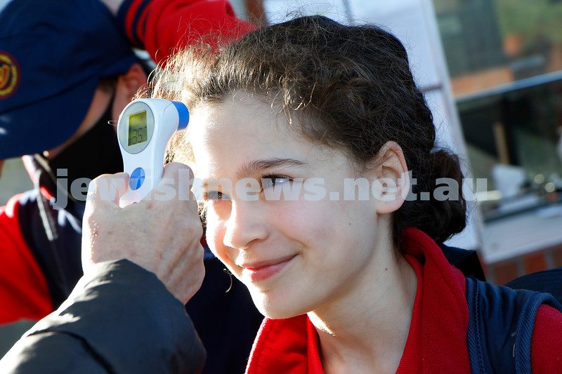 12-10-20. After months of home schooling, students finally return to real face to face classes at Sholem Aleichem College . Photo: Peter Haskin
