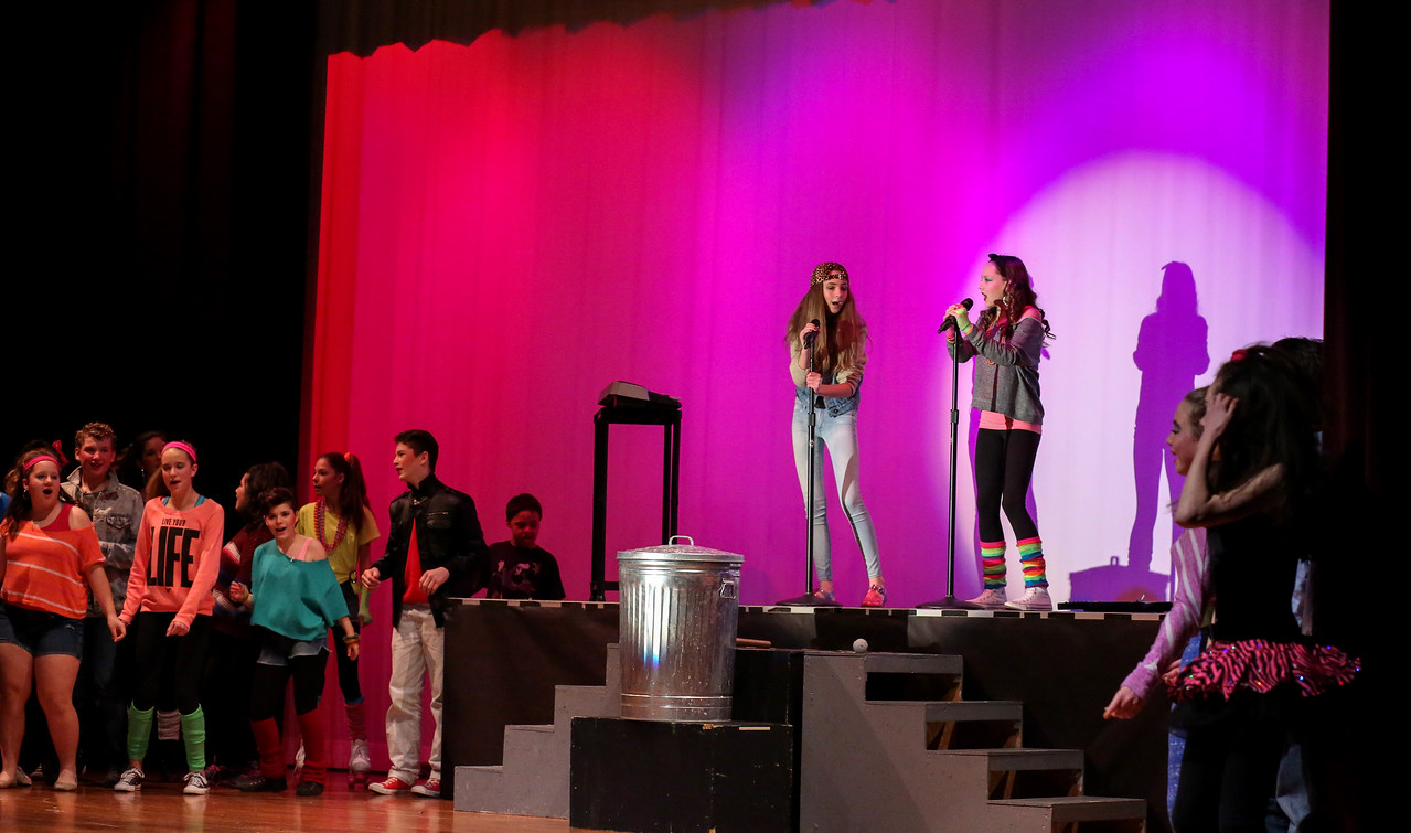 Canton Middle School's production of Back to the 80's: The Totally Awesome Musical! <br /> Photo by John Fitts