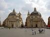 Piazza del Poplo chapels: Santa Maria del Miracoli and in Montesanto
