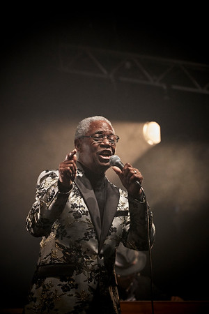 Don Bryant on his opening show before Gregory Porter concert. Jazz à la Villette Festival, Paris, September 2017.