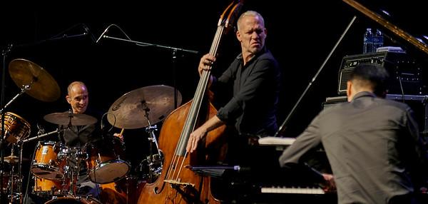 Avishai Cohen Trio Concert at Theatre de Chelles, March  2019.  Noam David on Drums and Elchin Shirinov with Piano.