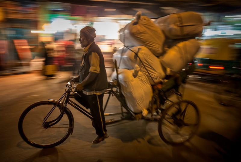 Cycle rickshaw in Urdu Bazar Rd.