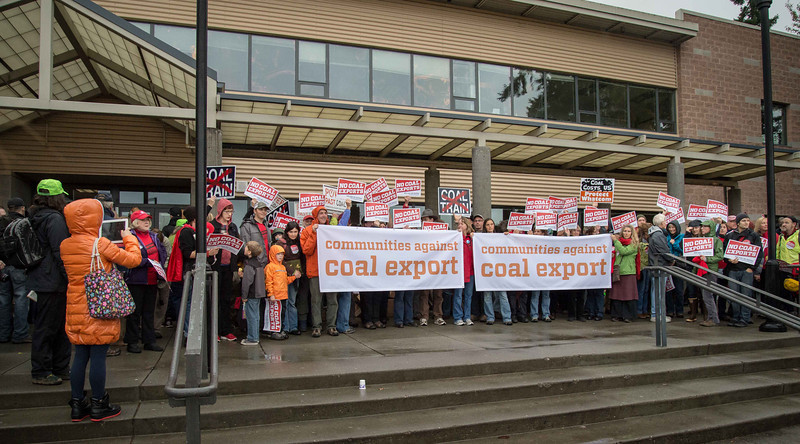Backbone Campaign imagery for Bellingham Coal Port terminal public scoping re: Gateway Pacific Terminal