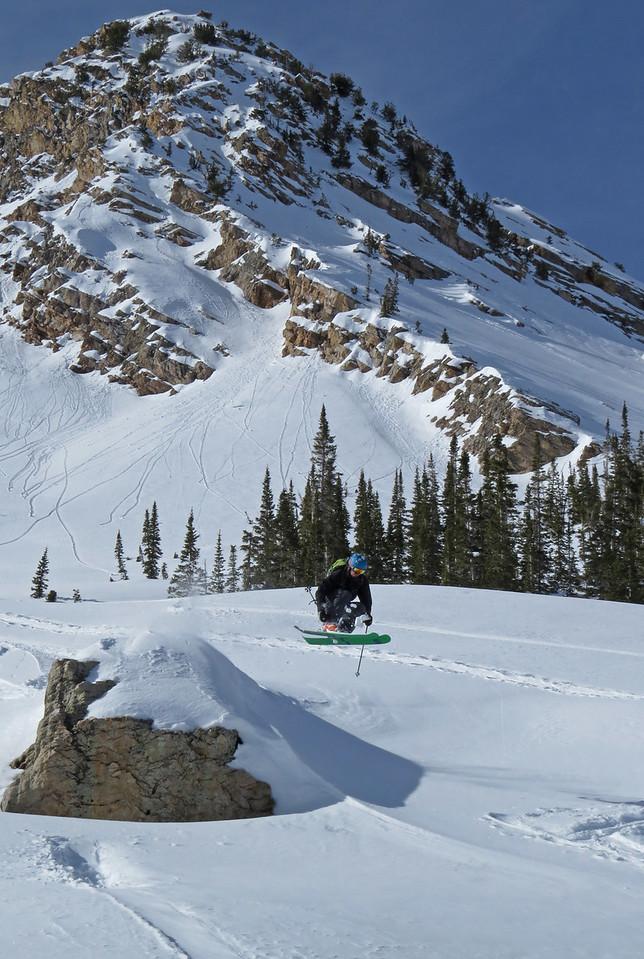 Big mountain skier