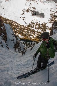 Ski Hallway Couloir Utah