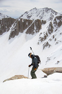 Ice Axe and a ski pole