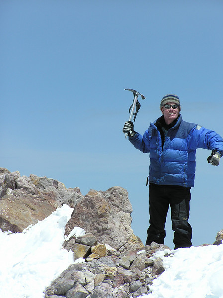 The Axeman Cometh!  Shasta summit.