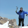 The Axeman Cometh!  Shasta summit.
