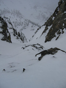 Entrance to Halls of the Gods, the skier's right entrance.