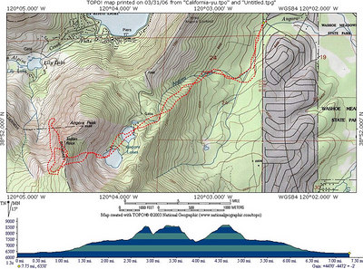 Topo of our approx. route.