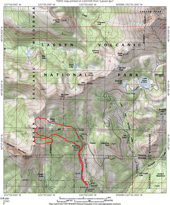 Topo of the surrounding area