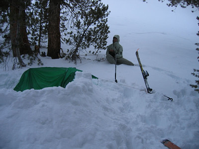 "Site of our ""snowcave"""