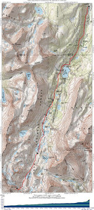 Here's the topo for those who want to head out there and actually summit.  2 is the trail head, 3 is where we started breaking trail, 4 is where we camped and 5 is the hourglass coulouir.
