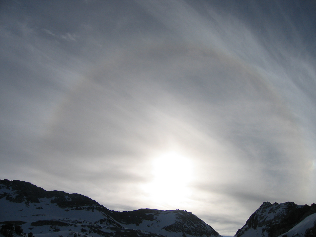 A nice halo next to red slate mtn.