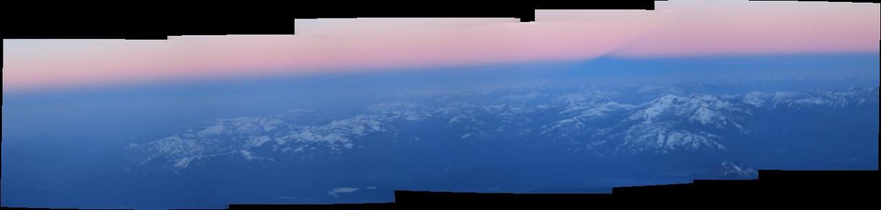 Shadow of Shasta at sunrise.