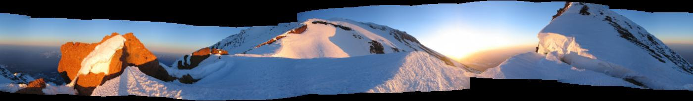 Start out with some panos...this is the top of the red banks...at first light.