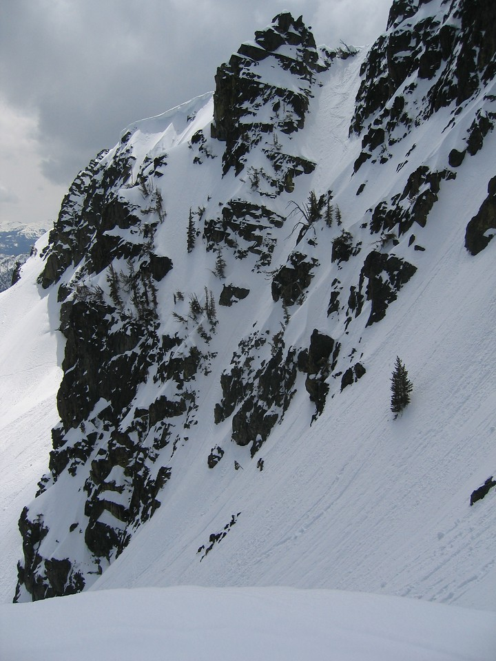 but as you can see, I got some good turns in for most of the couloir.<br /> <br /> <br /> Click on the pic to enlarge.