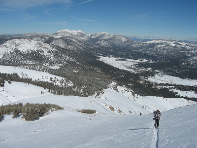 We went up the ridge for another run and decided to hit up the E Bowl off of Steven's Peak.