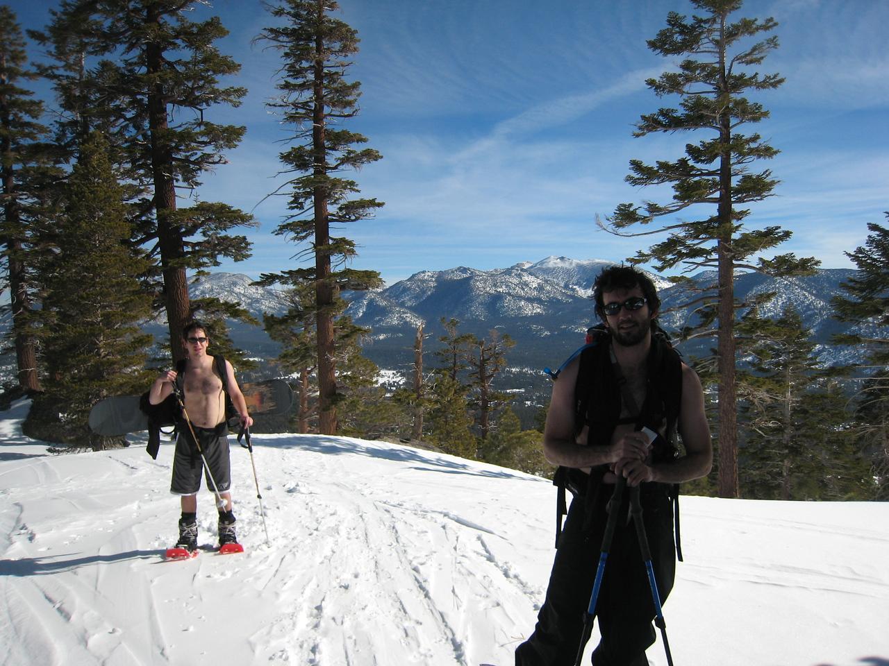 Jasper and Tim up on the ridge.
