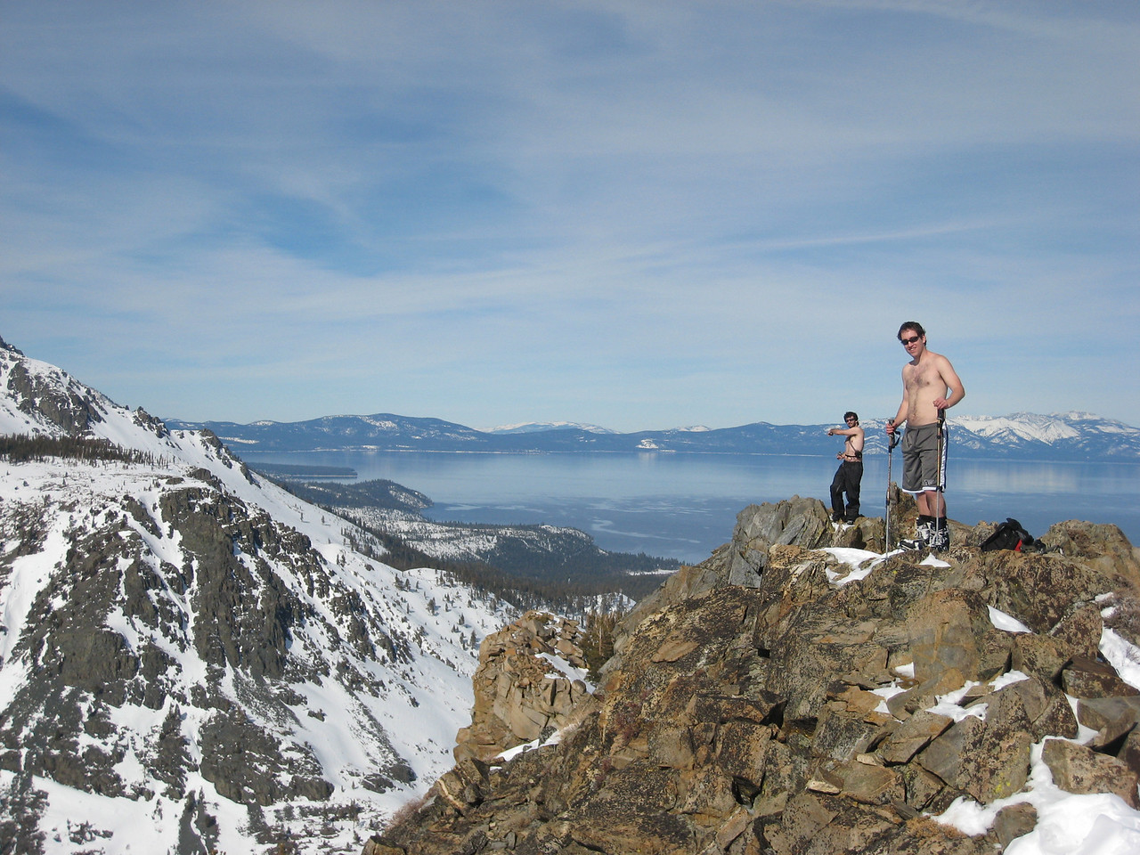Jasper and Tim at the top of Angora.