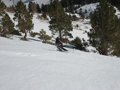 We skinned up the hill behind camp for some of the best turns of the trip.