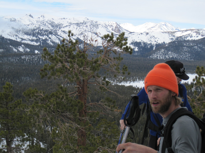 Scott, with Mt. Wood, Carson Peak. Two Teats, and San Joaquin Ridge in the background (from right to left).