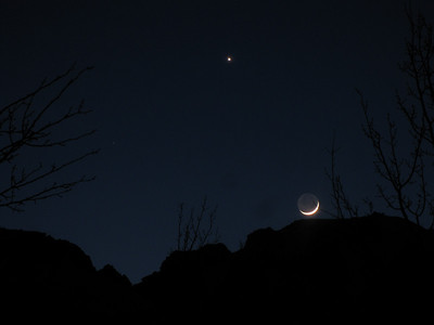 moon & venus (aka the evening star...)