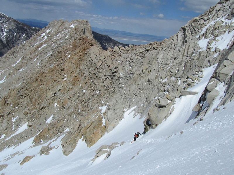 So we decided to ski down from here.  Didn't get to the top, but still a good 3300' day.