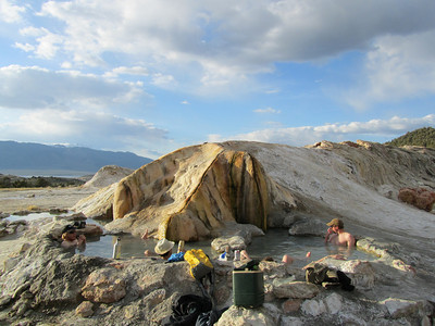 Travertine hot springs...