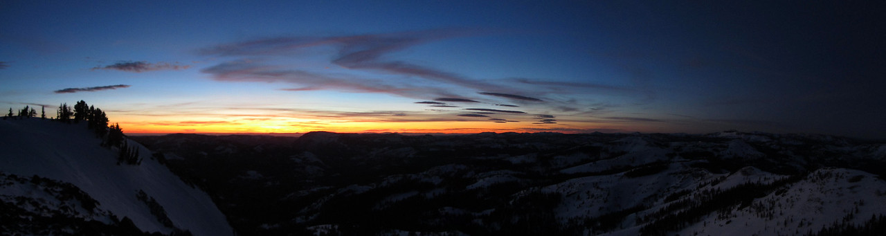 Sunset from Mt. Anderson