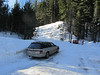We left Chris' car at Pole Creek on our way up to Sugar Bowl on Thurs.