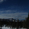 Pano - And soon we were breaking trail into this winter wonderland on a bluebird day.