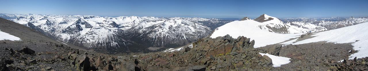 Looking south from the ridge between Leavitt Peak and Night Cap Peak