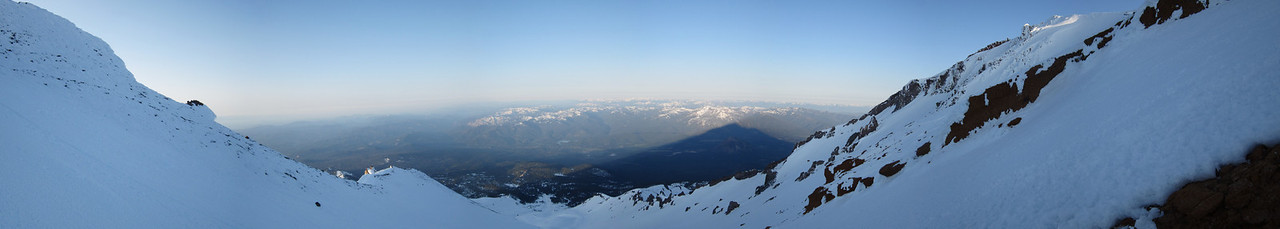 From near the top of the Red Banks - Looking back at the Trinity Alps - Stitched Panorama