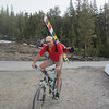 the 2 mile bike up to Saddlebag Lake Resort...