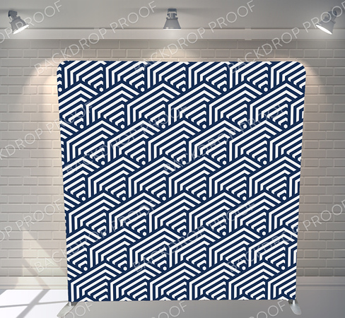 BLUE GEOMETRIC PATTERN (SF & NYC)