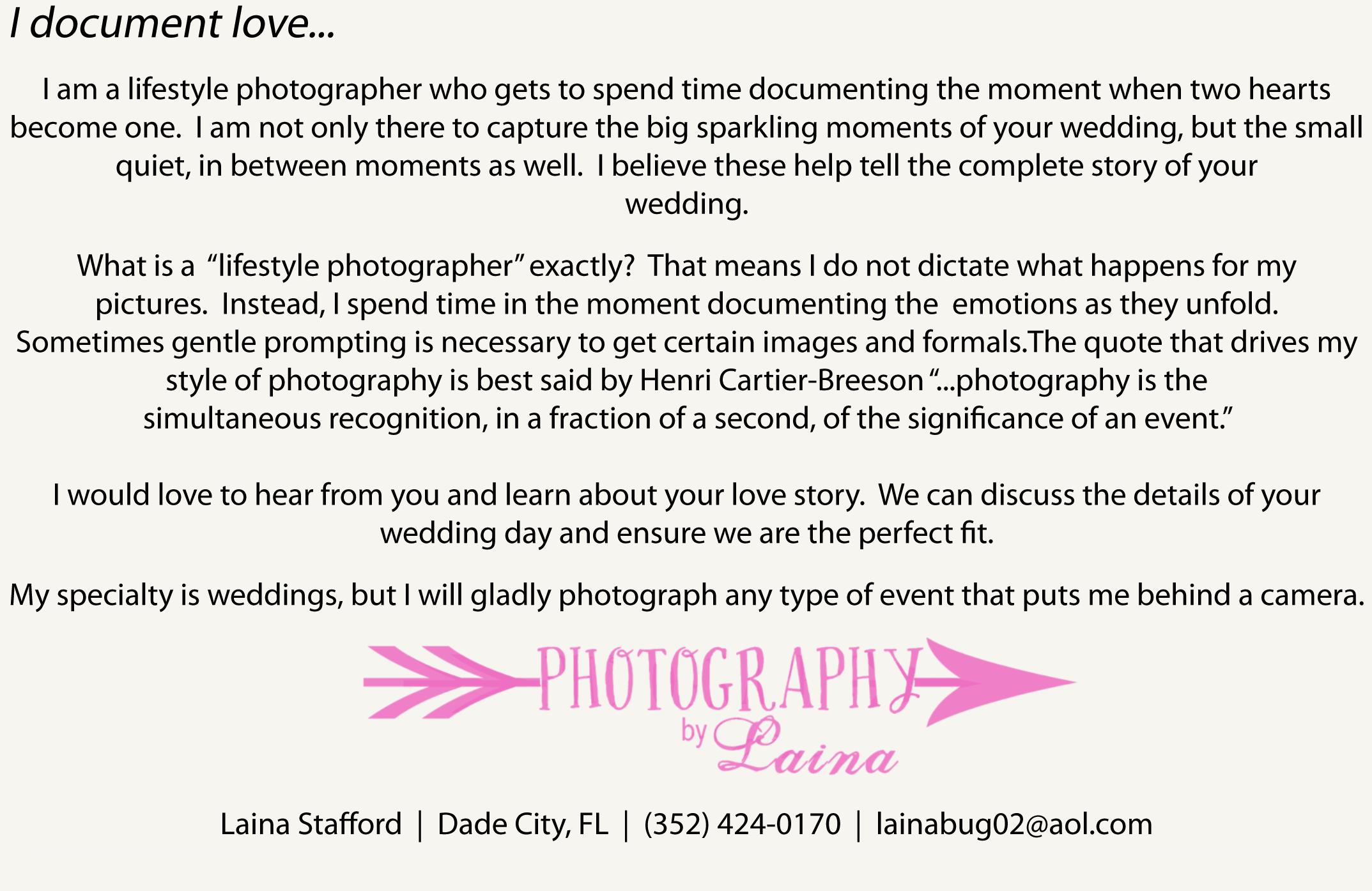 Wedding Photographer Dade City Florida