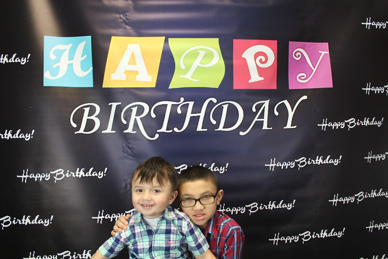 Blue Happy Birthday | 8x8 backdrop | img1