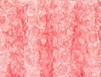 Coral Rosette Satin Drape Backdrop