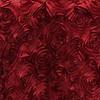 Red Rosette Satin Drape Backdrop