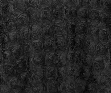 Black Rosette Satin Drape Backdrop