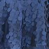 Navy Blue Round Petals Drape Backdrop