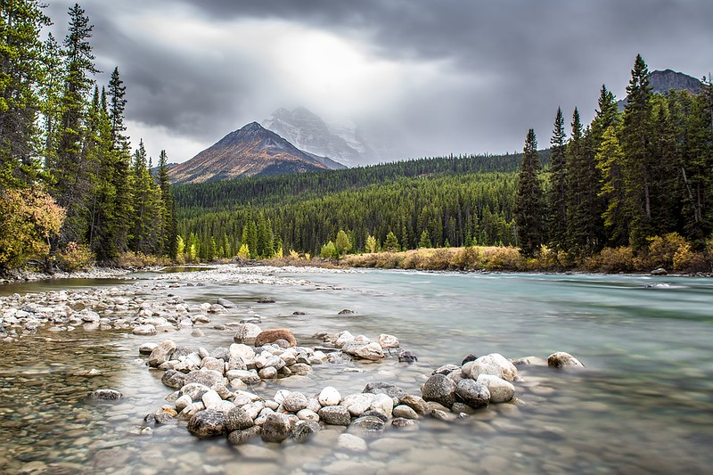 National Park Forest Canada Water River Banff