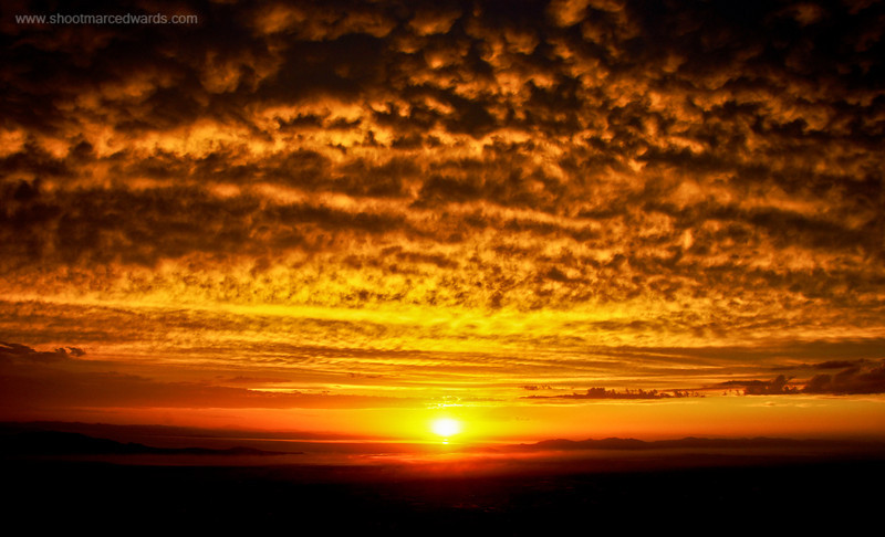 """Image #18<br /> Purchase <a href=""""http://goo.gl/muXwK"""">http://goo.gl/muXwK</a><br /> <br /> Sunset at 10,000 feet<br /> <br /> I took this image while on top of the Wasatch Range, after a rain storm broke apart."""