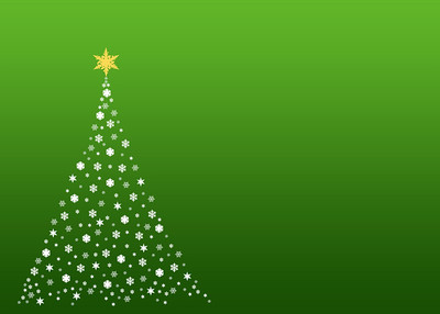 An illustration of a christmas tree formed by white  symbols